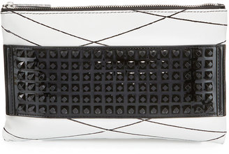 L.A.M.B. Jana Studded Leather Clutch Bag, White $210 thestylecure.com