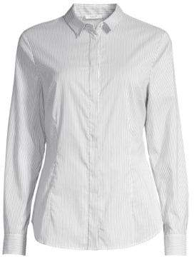 Peserico Beaded Stripe Poplin Shirt