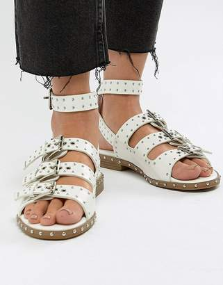 Missguided buckle strap sandals
