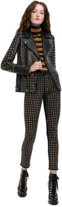 Alice + Olivia Ollie Studded Leather Jacket