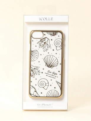 iCOLLE iCOLLE/iPhone8/7用 ゴールド箔押しケース シェル フジモト デンギョウ ファッショングッズ