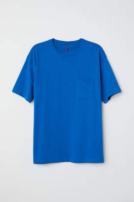 H&M Wide-cut T-shirt - Blue