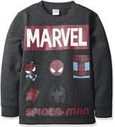Marvel (マーベル ボーイズ・裏起毛プリントトレーナー OTH-538 15 チャコールグレー 130