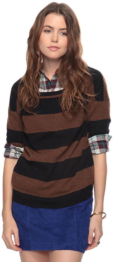 Forever 21 Striped Wool Blend Sweater