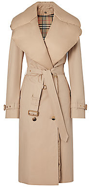 Burberry Women's Padded Down-Collar Trench Coat