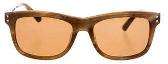 Valentino Marbled Square Sunglasses