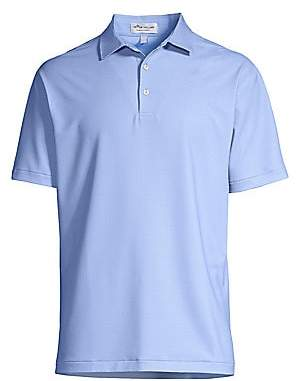 Peter Millar Men's Crown Sport Regular-Fit Dotted Polo