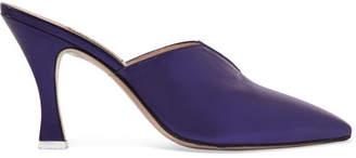 ATTICO Monica Metallic Leather Mules - Purple