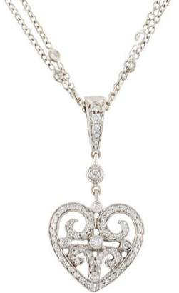 Penny Preville 18K Diamond Heart Pendant Necklace