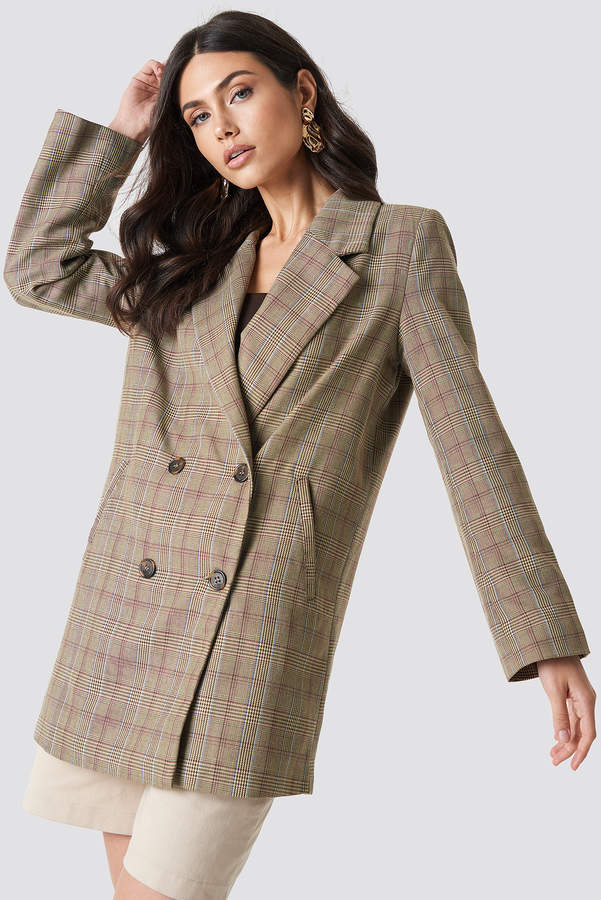 Buy Double Breasted Plaid Jacket!