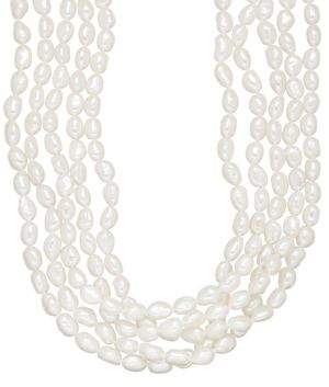Lord & Taylor 5-17.75MM Five-Strand White Freshwater Pearl Necklace