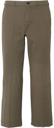 ATM Anthony Thomas Melillo Cropped Stretch-cotton Boyfriend Pants - Green
