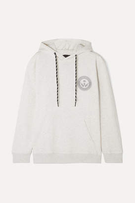 adidas By Alexander Wang - Appliquéd Printed Cotton-jersey Hoodie - Light gray