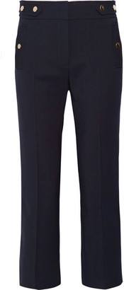 Vanessa Bruno - Herve Stretch-wool Twill Flared Pants - Navy