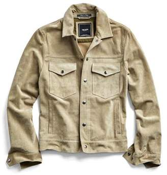 Todd Snyder Italian Suede Snap Front Dylan Jacket in Desert Sand