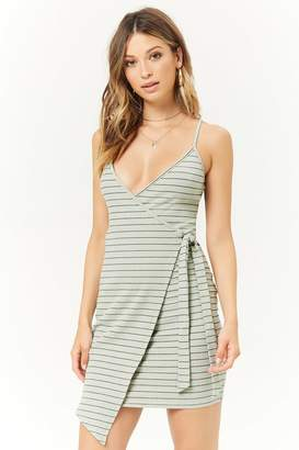Forever 21 Striped Wrap Dress