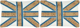 Safavieh Charles Union Jack Pillows, Set of Two