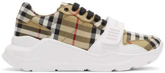 Burberry Yellow Nova Check Regis Low Sneaker