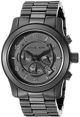 Michael Kors Watches Men's Black bracelet Chronograph Sport (Black)