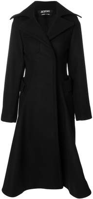 Jacquemus flared tailored trench coat