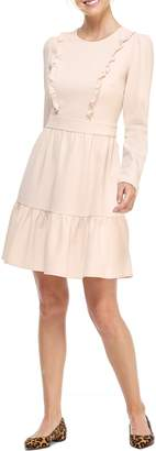 Gal Meets Glam Hayley Ruffle Detail Long Sleeve Dress