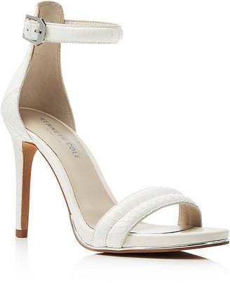 Kenneth Cole Brooke Snake-Embossed Ankle Strap High Heel Sandals $150 thestylecure.com