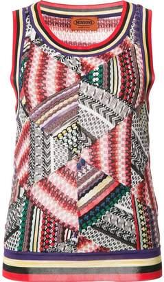 Missoni patchwork knit tank