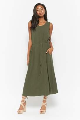 Forever 21 Sleeveless Linen-Blend Dress