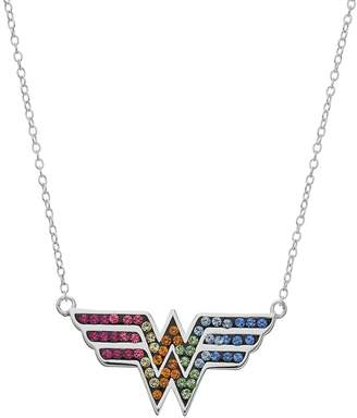 Justice Kohl's DC Comics Sterling Silver Crystal Wonder Woman Necklace