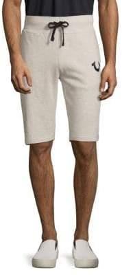 True Religion Logo Cotton Drawstring Shorts