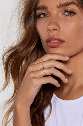 Nasty Gal Feeling a Little Delicate 4-Pc Ring Set