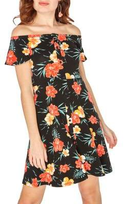 Dorothy Perkins Casual Print Fit-and-Flare Dress