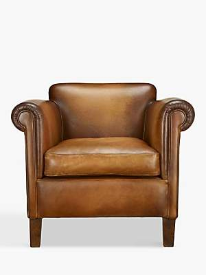 At John Lewis And Partners Camford Leather Armchair Buffalo Antique