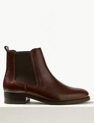 Marks and Spencer Leather Chelsea Ankle Boots