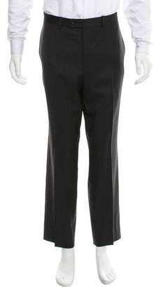 Barneys New York Barney's New York Flat Front Wool Pants