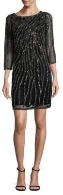 J Kara Lace Three-Quarter Sleeve Dress