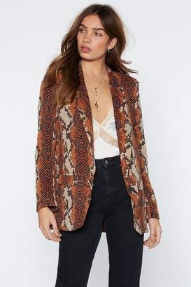 Nasty Gal Snake Your Chances Relaxed Blazer
