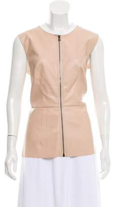Cédric Charlier Vegan Leather Sleeveless Top w/ Tags