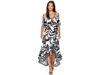 Christina American Rose Maxi Wrap Dress