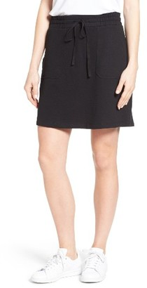 Women's Caslon Drawstring Waist French Terry Skirt $39 thestylecure.com
