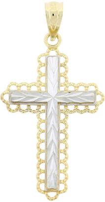 FINE JEWELRY Womens 10K Two-Tone Cross Pendant