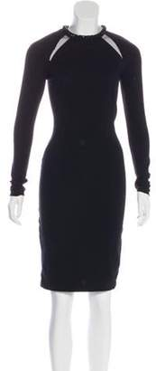 Stella McCartney Long Sleeve Embellished Dress Black Long Sleeve Embellished Dress