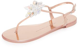 Giuseppe Zanotti Flat Sandals $650 thestylecure.com