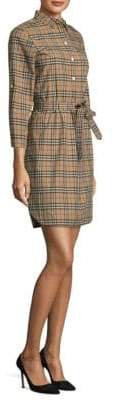 Burberry Plaid Belted Dress