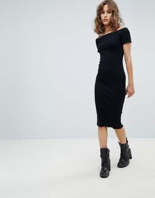 AllSaints bardot bodycon dress
