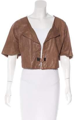 Marni Leather Short Sleeve Jacket