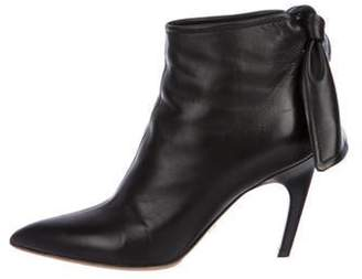 Christian Dior Leather Ankle Booties Black Leather Ankle Booties