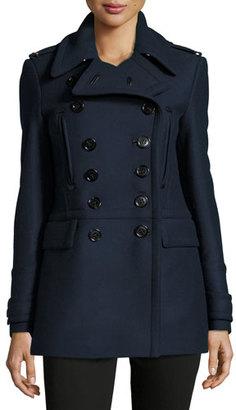 Burberry Milbridge Wool Twill Pea Coat $1,295 thestylecure.com