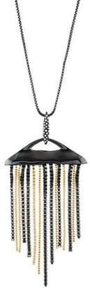 Alexis Bittar Crystal Fringe Pendant Necklace