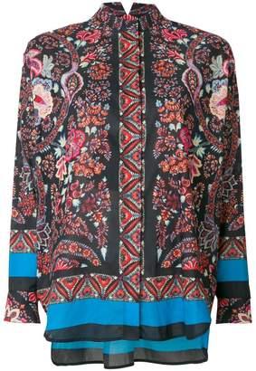 Etro floral band collar shirt